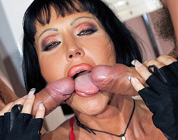Private  porn video: Valentine Demy Gets a Dick in Both Lower Cock Sockets in a MMF 3way DP