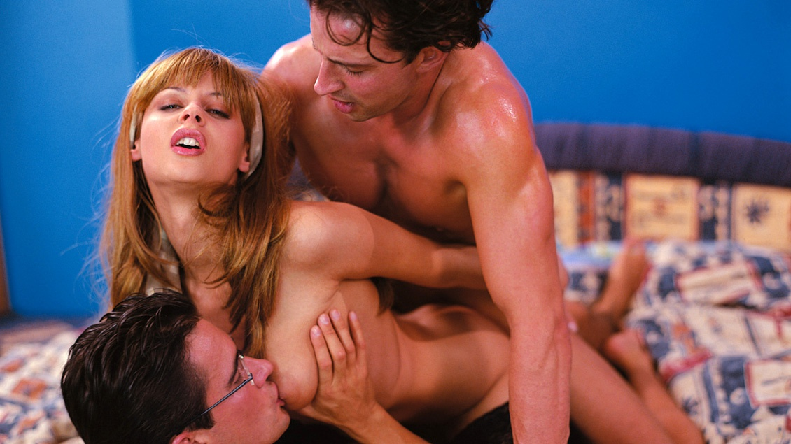 Michelle Wild Is the Meat in a Dick Sandwich during This MMF 3 Way DP