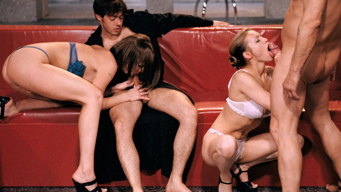 Daniella Schiffer and Ellen Get DPd by a Couple Horny Hooded Fuckers