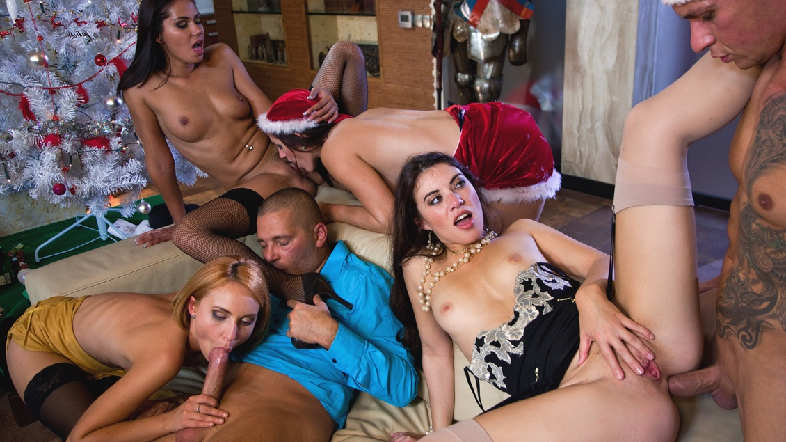 A Christmas Orgy with Candy Alexa, Nataly Von, Tiffany Doll and More