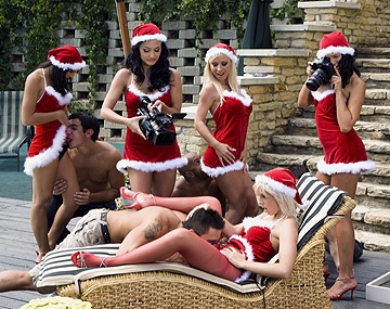 Private HD porn video: Ho Ho Hoe See Santa's Sexy Helpers Aletta Ocean and Lara Amour