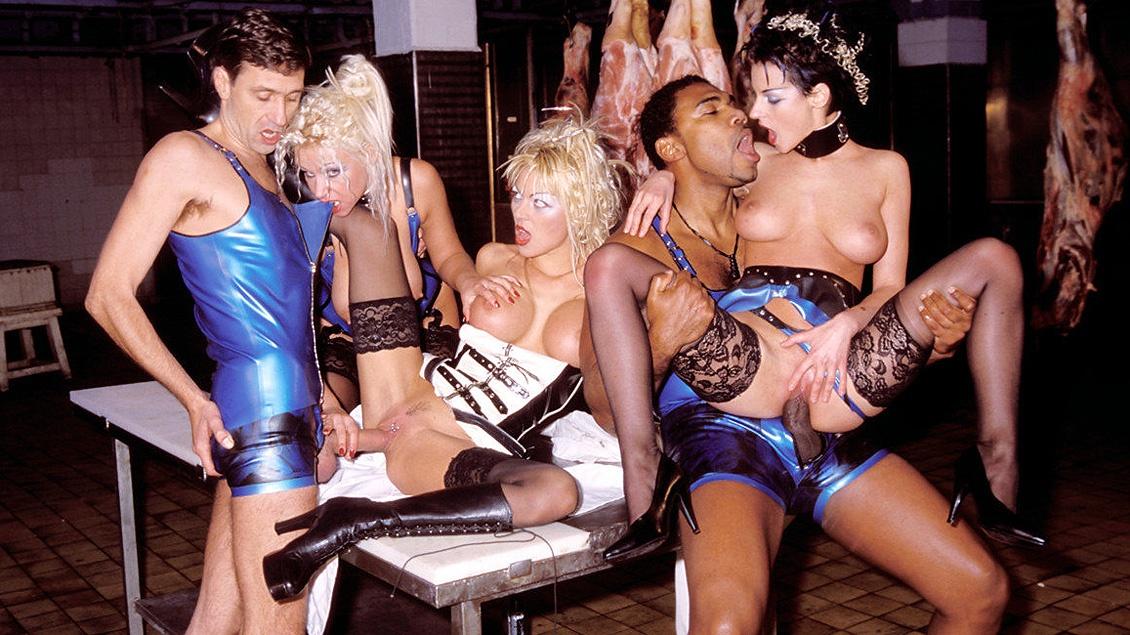 Anita Paris Michelle Wild and Monique Covet BDSM Interracial Blowjob