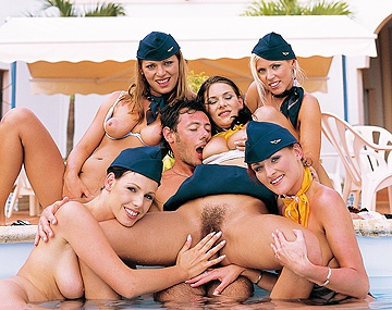 Private HD porn video: Five Flight Attendants Want to Fuck Francesco All Together