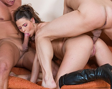 Private  porn video: Simony Diamond Rubs Her Clitoris While Getting Anal after Her MMF DP