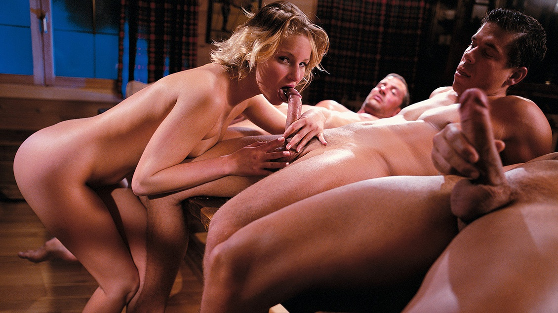 Gangbang covered in cum