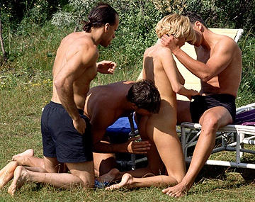 Private  porn video: Grety and Her Friend at an Outdoor Orgy Giving Handjobs and Blowjobs