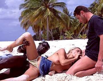 Private  porn video: Alicia Has Her Hot Body Ravaged on the Beach during an Interracial DP