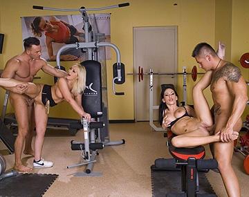 Private HD porn video: Mya Diamond and Sara Simon Tell Friend about Gym Orgy