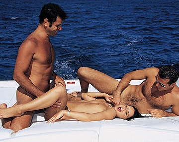 Private  porn video: Cristina Bella on a Boat Trip Getting Anal during MMF Threesome