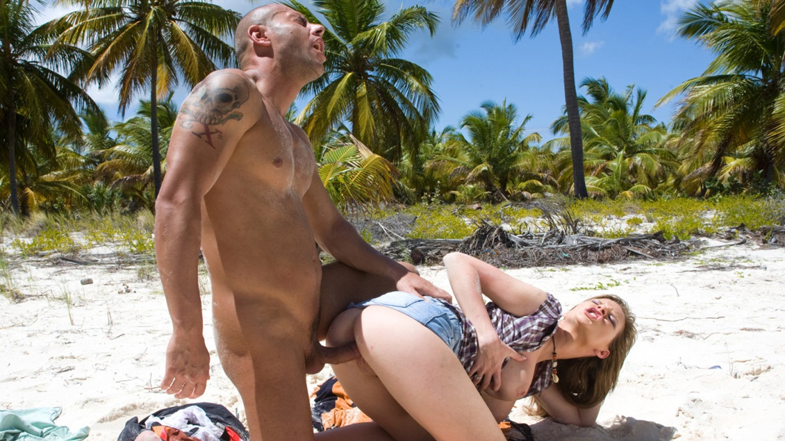 Big Tittied Starlet Tarra White Gets Anally Fucked on the Beach