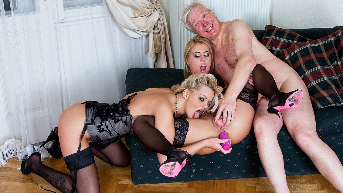 Nikky Thorne and Zafira May Double Team an Older Man