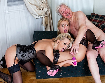 Private HD porn video: Nikky Thorne and Zafira May Double Team an Older Man