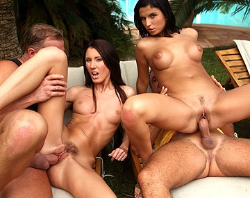 Private HD porn video: Josette Most and Renata Black Have Outdoor 4 Way with Blowjobs and DP