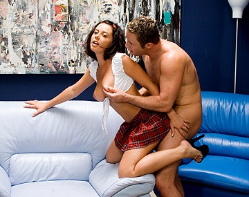 Private  porn video: Penny Flame Gives Her Lover a Blowjob before He Lets Her Ride His Rod