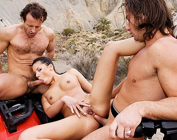 Private HD porn video: Vanessa May Has an Outdoor Threesome with Blowjobs Handjobs and a DP
