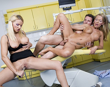 Private HD porn video: Vivien and Winnie Have FFM Threesome in Doctors Office with Anal Sex