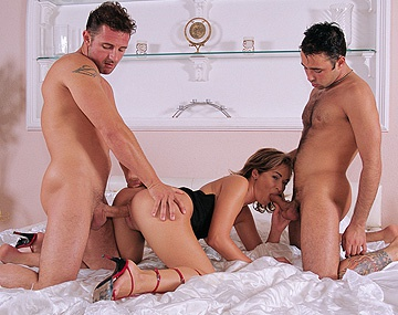 Private  porn video: Barbara Voice Rides on Hard Cock after Giving It a Blowjob in a 3 Way