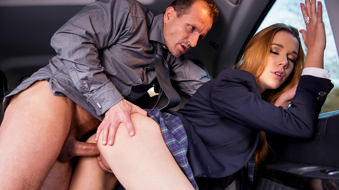 Alexis Crystal Sucks a Cock and Get Fucked by Him Very Hard in a Car