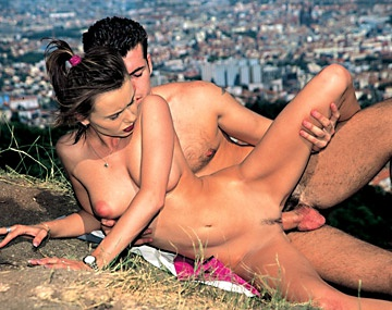 Private  porn video: Horny Janet Sucks and Fucks Her Man on the Edge of a Windy Cliff