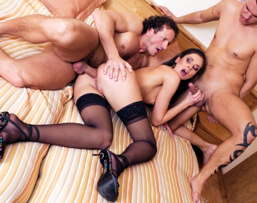 Private  porn video: Sexy and Horny Lucy Gets Two Cocks in Her Ass before It's Through