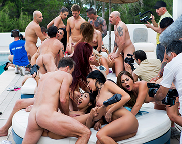 Private HD porn video: The biggest orgy ever seen in Ibiza celebrating Henessy's Birthday