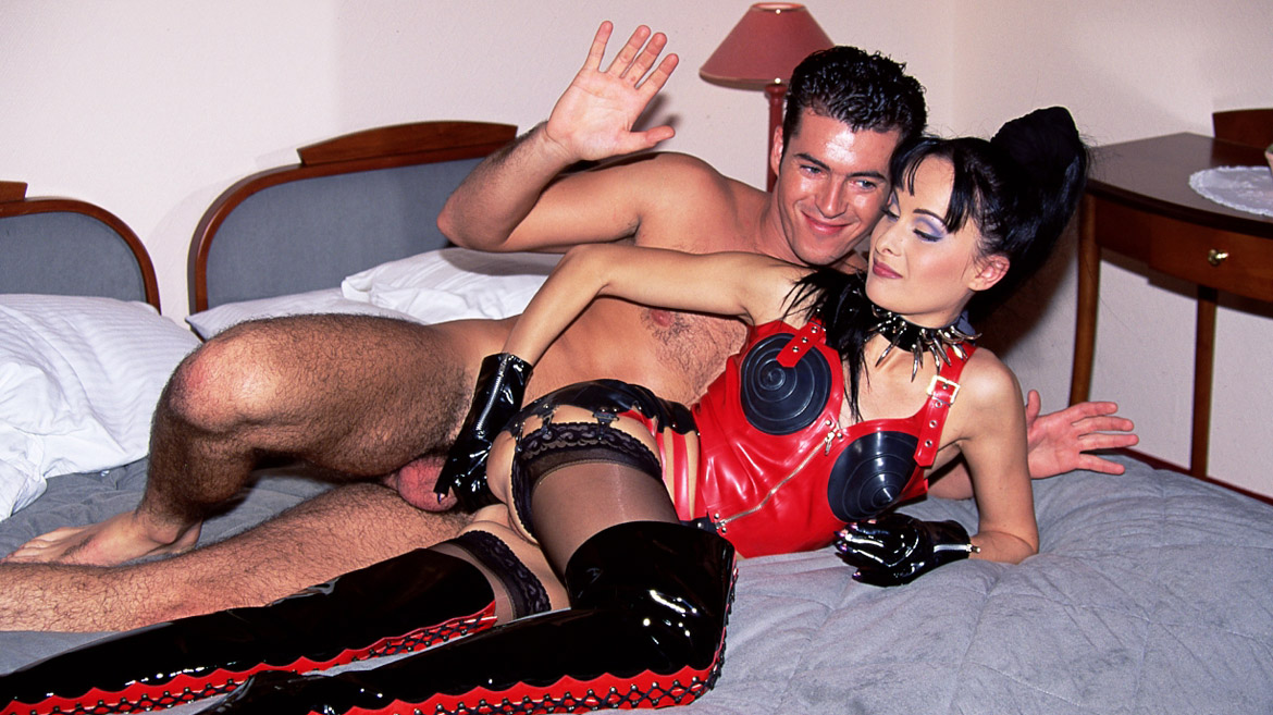 Agness Grimaldi Dominates Male with Spanking and Blowjob for Facial