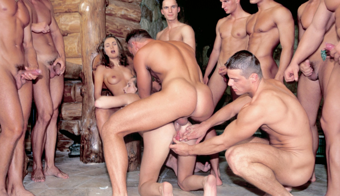 Dayana and Emese Get Involved in a Large Gang Bang at the Spa