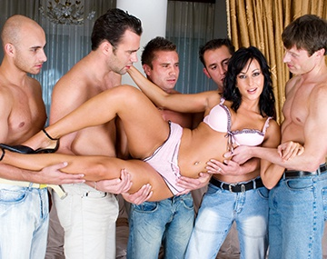 Private  porn video: Simonne Is DP'd in a Gangbang and Left Covered in Cum
