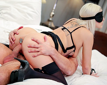 Private HD porn video: Blanche Bradburry Is Handcuffed, Blindfolded and DP'd by Two Men