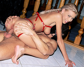 Private  porn video: Judith Makes Her Sex Slaves Eat Her Pussy While They Have Hardcore Sex