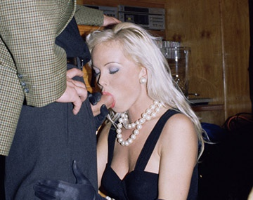 Private  porn video: Silvia Saint Sucks a Cock at a Party While Everyone Watches