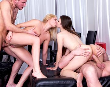 Private HD porn video: Diana Dali y Stefany, orgía de estudiantes con squirting y corridas faciales
