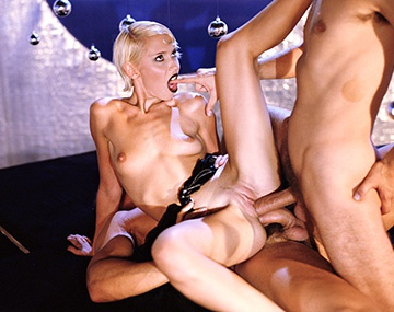 Private  porn video: Skinny Blonde Melinda is Punished by Two Big Dicks