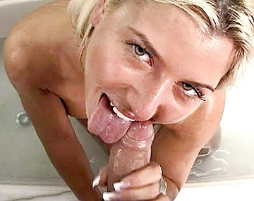 Private  porn video: Teen Sharon Bright Swallows Cum in Casting