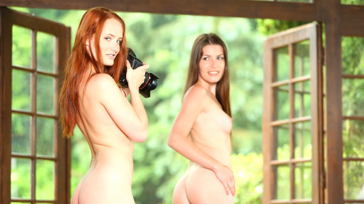 Red Head Denisa Heaven & Ennie Have a Hot Lesbian Session