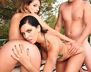 Private HD porn video: Kira Queen & Cara St. Germain Get Their Fill From Hard Dick