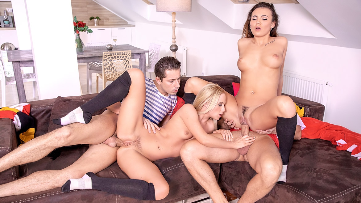 Vanessa Decker and Vinna Reed, prefer an anal orgy