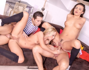 Private HD porn video: Vanessa Decker and Vinna Reed, prefer an anal orgy